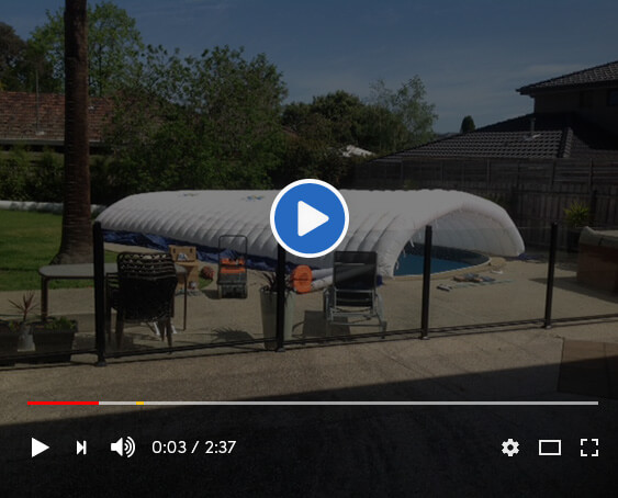 BLOW UP POOL TENT